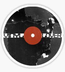 Vinyl Records Lover - Grunge Vinyl Record Sticker