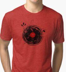 Cool Grunge Enchanting Vinyl Records Vintage Tri-blend T-Shirt