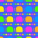 The Elephants' Parade by Fotopia