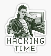 Hacking time Sticker