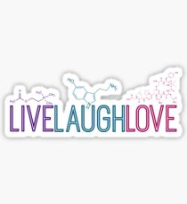 Live Laugh Love Molecules 2 Sticker
