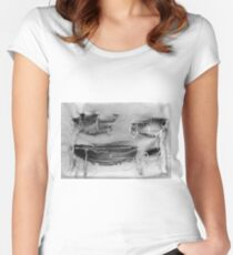 Weathered Face 2 Women's Fitted Scoop T-Shirt