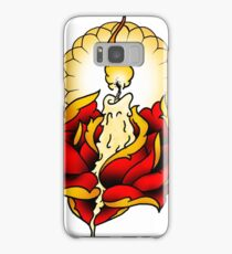 Neotraditional Candle and Rose Samsung Galaxy Case/Skin