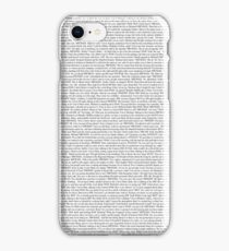 The Office pilot episode script (us) iPhone Case/Skin