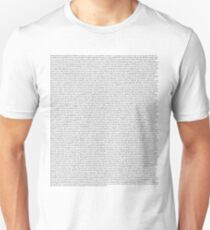 The Office pilot episode script (us) Unisex T-Shirt