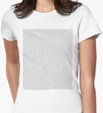 The Office pilot episode script (us) Women's Fitted T-Shirt