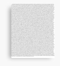 The Office pilot episode script (us) Canvas Print