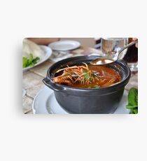 Delicious Asian Tom Yum soup Canvas Print