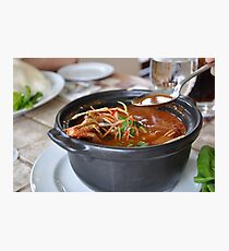 Delicious Asian Tom Yum soup Photographic Print
