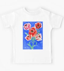 Poppies Bouquet Painting Kids Clothes