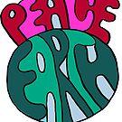PEACE ON EARTH WORD ART by ANN  PEARSON