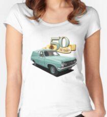 HR Holden Panel Van - Green Women's Fitted Scoop T-Shirt