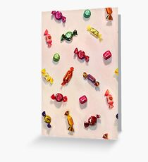 Sweet Candy Painted Pattern Greeting Card