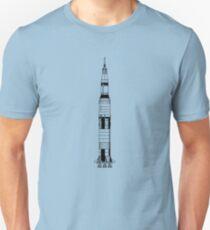 The Apollo Mission's Saturn V Rocket Unisex T-Shirt