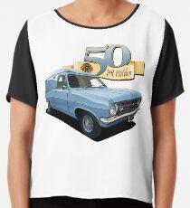 HR Holden Van - Blue Chiffon Top