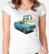HR Holden Panel Van - Teal Women's Fitted Scoop T-Shirt