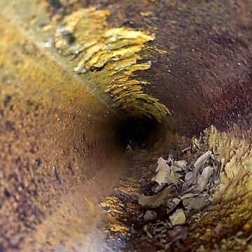Inside a rusty pipe by beyondartdesign