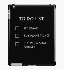 Exam To Do List iPad Case/Skin