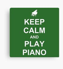 Play Piano (White) Canvas Print