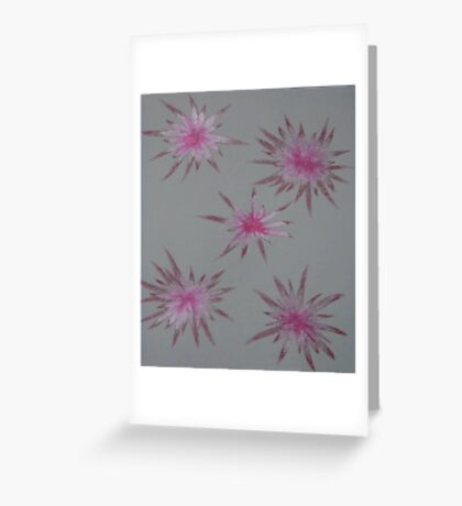 Starry Pinks Greeting Card