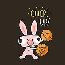Cheer Up Cheerleading Bunny by zachsymartsy