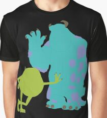 Mike Wazowski and James P. Sullivan (Mike and Sulley) - Monsters Inc Graphic T-Shirt