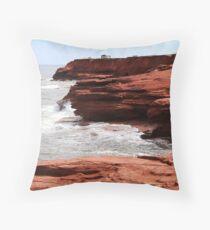Cliffs of Cavendish PEI  Throw Pillow
