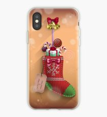 Knit Stocking Christmas Card iPhone Case