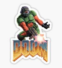 DOOM SPACE MARINE (2) Sticker