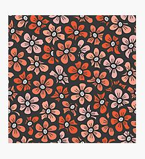 orange flower seamless pattern Photographic Print