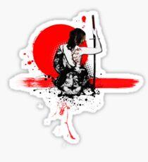 Trash Polka - Female Samurai Sticker