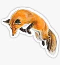 Fox Spring Sticker
