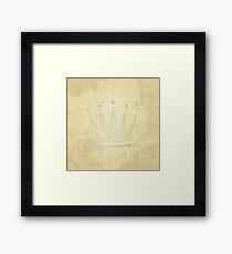 retro crown, grunge illustration Framed Print