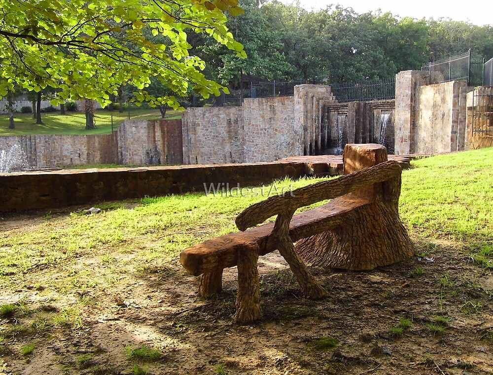 Odd Bench by WildestArt