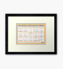 Chemical Structures of Vitamins Framed Print