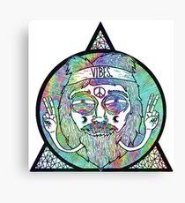 Trippy Psychedelic Hippie Design Canvas Print