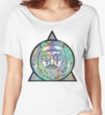 Trippy Psychedelic Hippie Design Women's Relaxed Fit T-Shirt