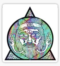 Trippy Psychedelic Hippie Design Sticker