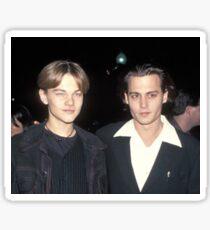 Leonardo DiCaprio and Johnny Depp Sticker