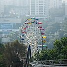 Amusement Park Eye ~ Ferris Wheel in Vladivostok, Russia by Lucinda Walter