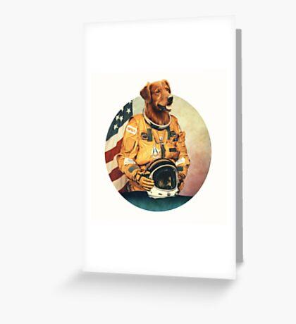 Astronimals: L. Brador (Circular) Greeting Card