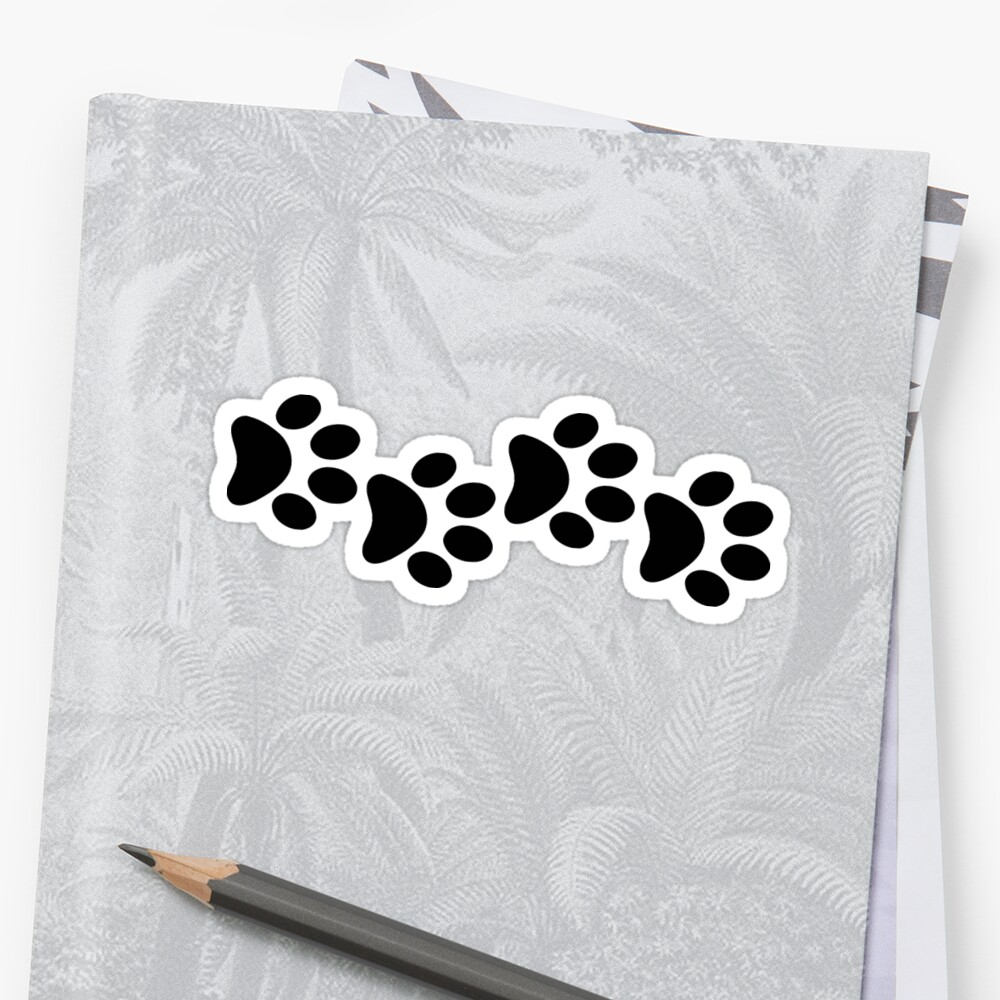 DOG PAWS LOVE DOGS PAW I LOVE MY DOG PET PETS PUPPY STICKER STICKERS DECAL DECALS by MyHandmadeSigns