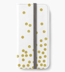 Gold polka dot iPhone Wallet