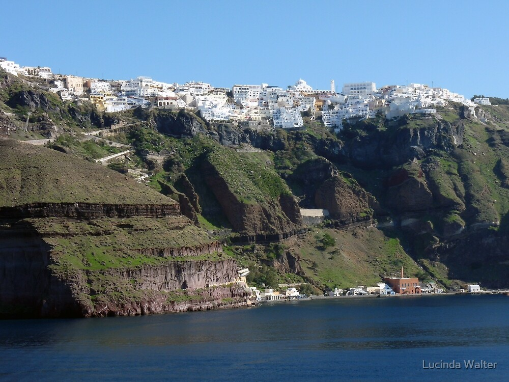 Fira Village of Santorini Greece by Lucinda Walter