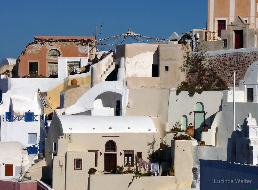 Houses in Santorini by Lucinda Walter