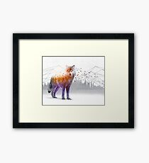A Wilderness Within / Wolf Framed Print