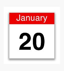 January 20th Photographic Print