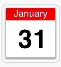 January 31st Sticker