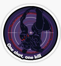One shot, one kill Sticker