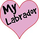 LOVE DOGS LABRADOR RETRIEVER HEART DOG GOLDEN CHOCOLATE LAB by MyHandmadeSigns
